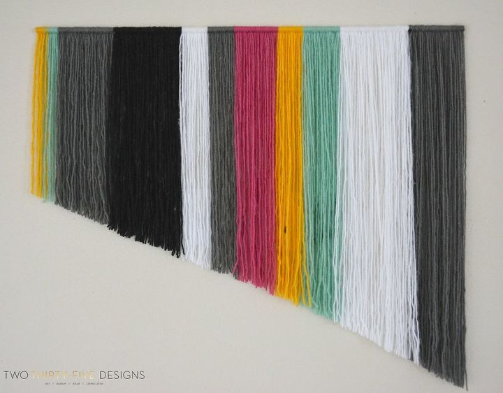 s 31 creative ways to fill empty wall space, Create your own yarn wall