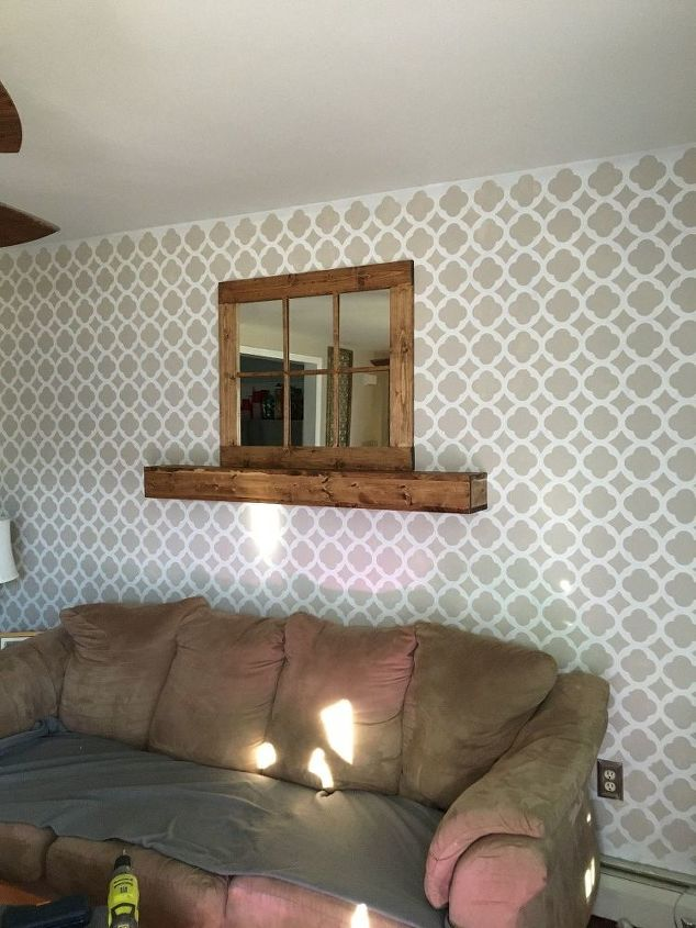s 31 creative ways to fill empty wall space, Build a mantel and floating shelf