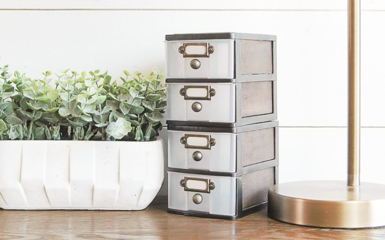 s 32 space saving storage ideas that ll keep your home organized, Turn plastic bins into farmhouse decor