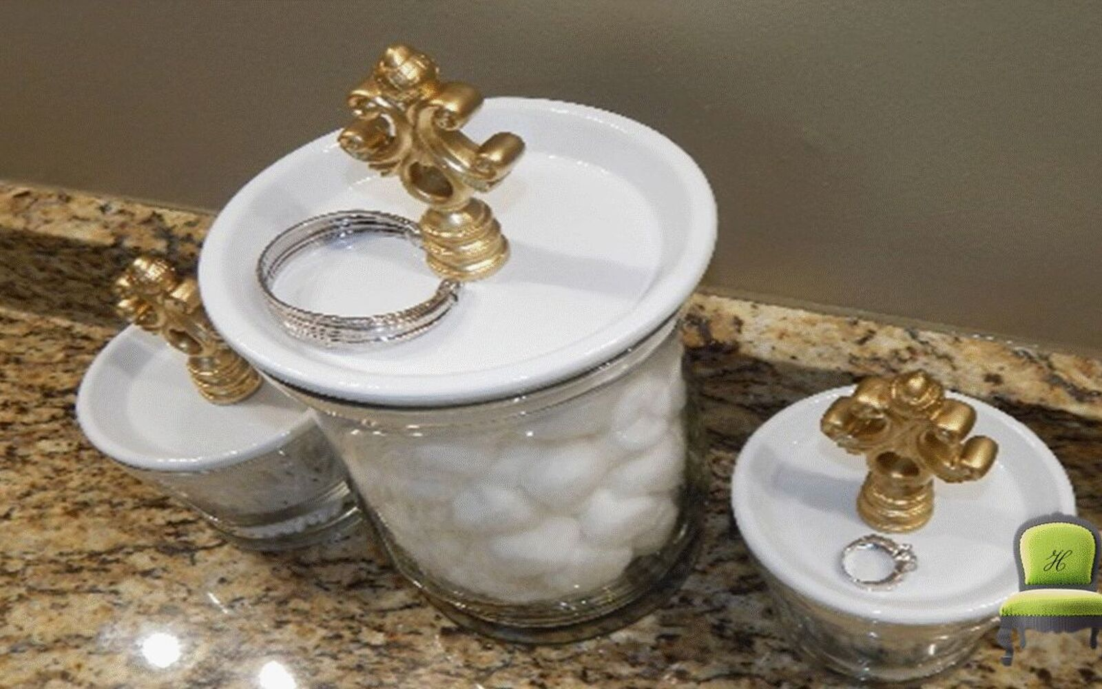 s 32 space saving storage ideas that ll keep your home organized, Turn glasses into bathroom vanity storage