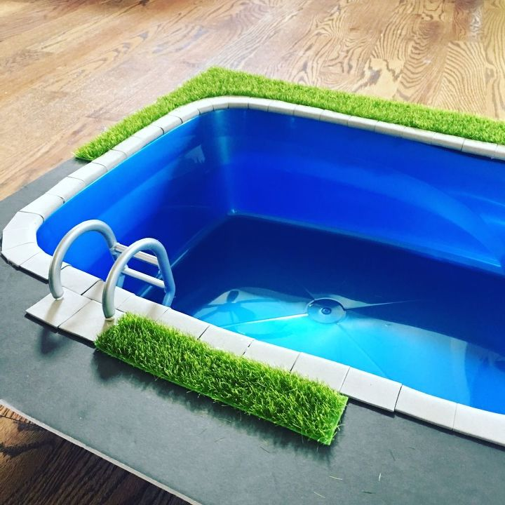 DIY Miniature Doll Swimming Pool and Patio | Hometalk