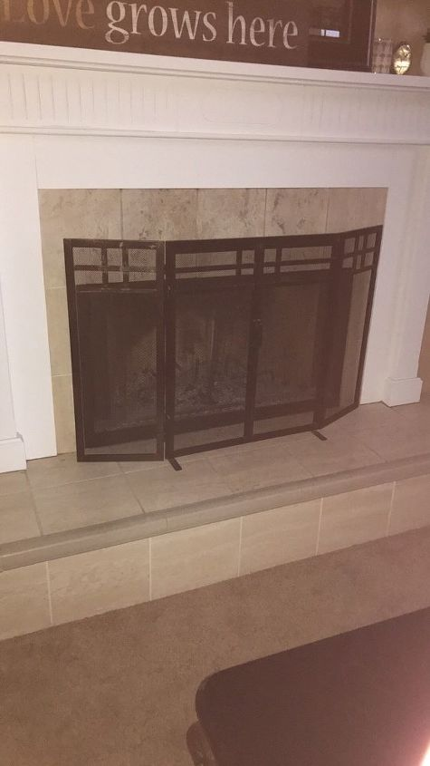 q would you put a backsplash of multicolored glass on your fireplace