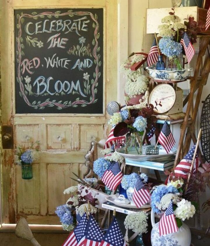 chalking it up to celebrate the red white and bloom