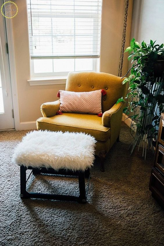 s 15 gorgeous bohemian inspired decor items to make for yourself, Build A Cozy Fluffy Stool