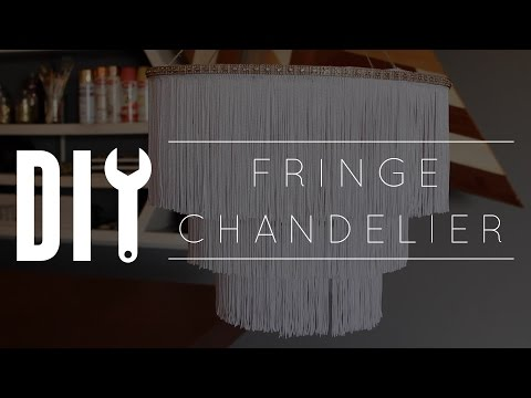 s 15 gorgeous bohemian inspired decor items to make for yourself, Get A Lux Chandelier With Fringe