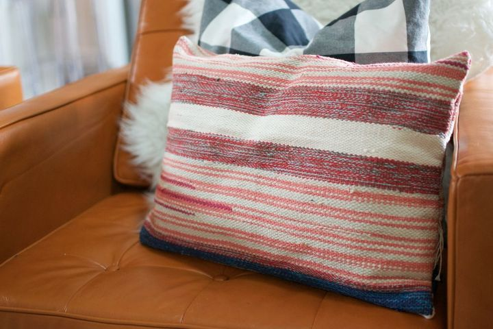 s 15 gorgeous bohemian inspired decor items to make for yourself, Craft A Faux Kilim Pillow In A Pinch