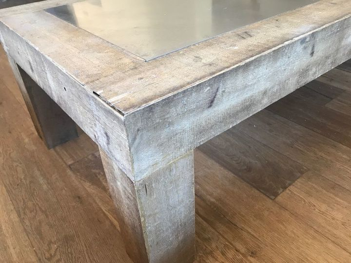 aging and staining wood with steel wool and vinegar