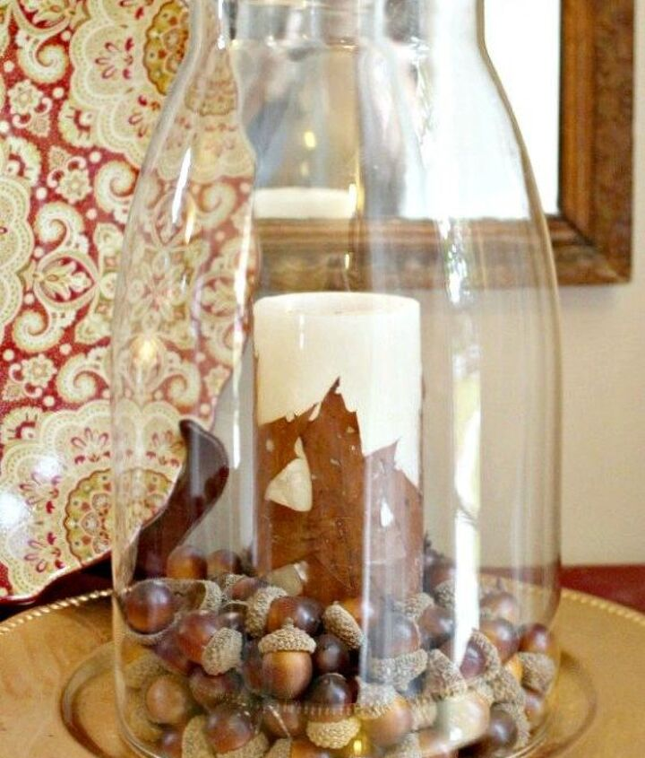 s 15 affordable pottery barn hacks perfect for your budget, Pour Wax Over Leaves For Candles