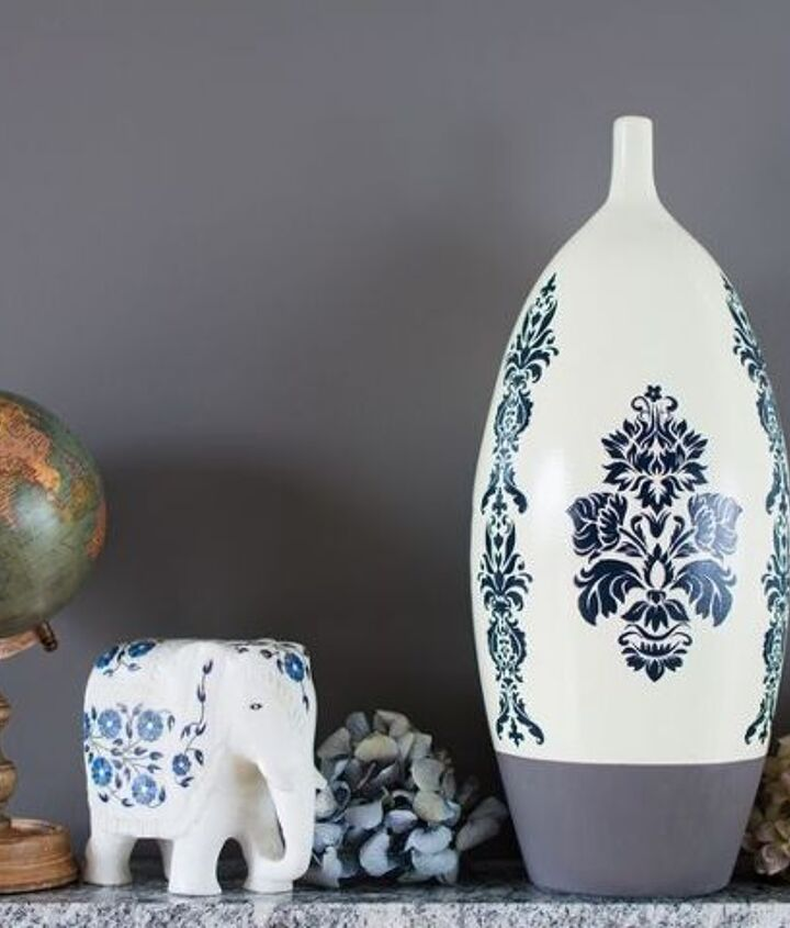 s 15 affordable pottery barn hacks perfect for your budget, Makeover Your Vase To Look Like Pottery s