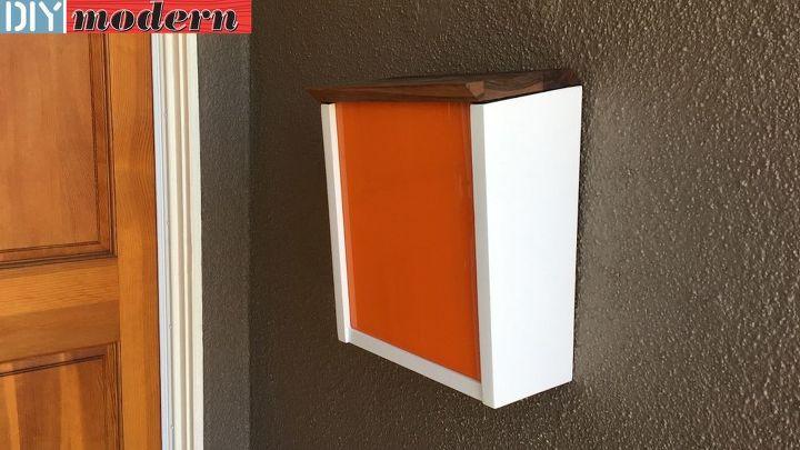 diy modern mailbox