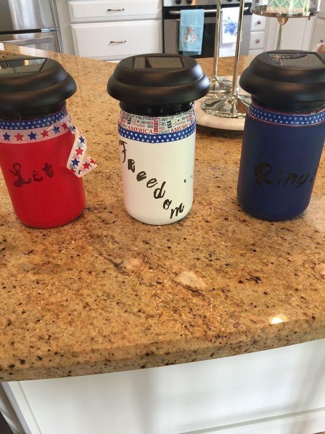Top each jar