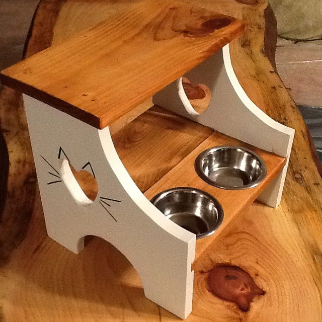 s 30 great ideas for every pet owner, Use A Stool As A Cat Feeder