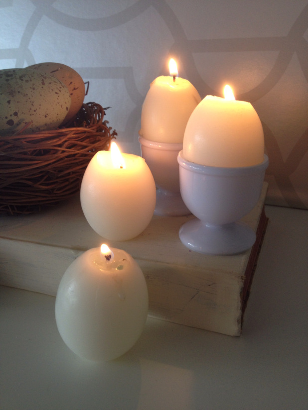 s 15 gorgeous homemade candle ideas you re going to want to try, These egg shaped candles made in shells