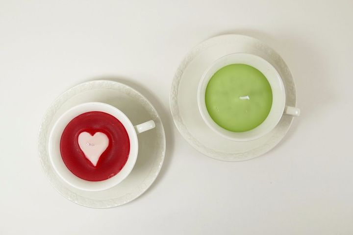 s 15 gorgeous homemade candle ideas you re going to want to try, These patterned tea cup candles