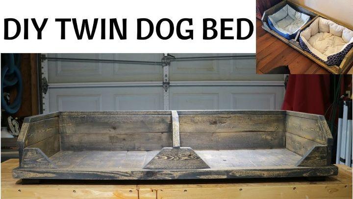 DIY TWIN DOG BED