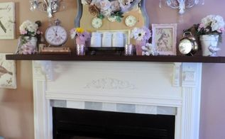 a country style diy fireplace mantel
