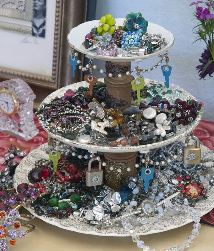 s 30 jewelry organizing ideas that are better than a jewelry box, This steampunk jewelry stand
