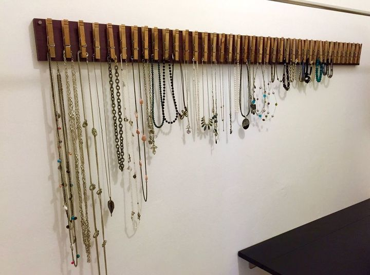 s 30 jewelry organizing ideas that are better than a jewelry box, This incredible line of clothespins
