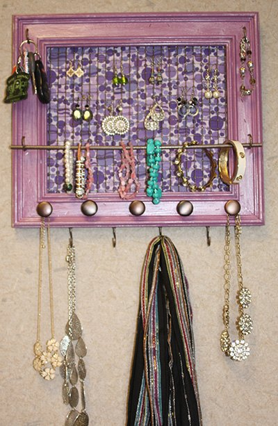 s 30 jewelry organizing ideas that are better than a jewelry box, This painted frame with chicken wire