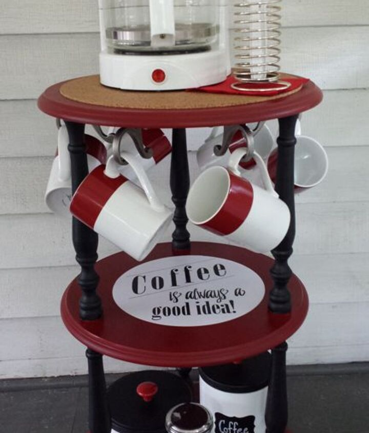 s 31 amazing furniture flips you have to see to believe, Thrift store coffee stand gets a wake up call