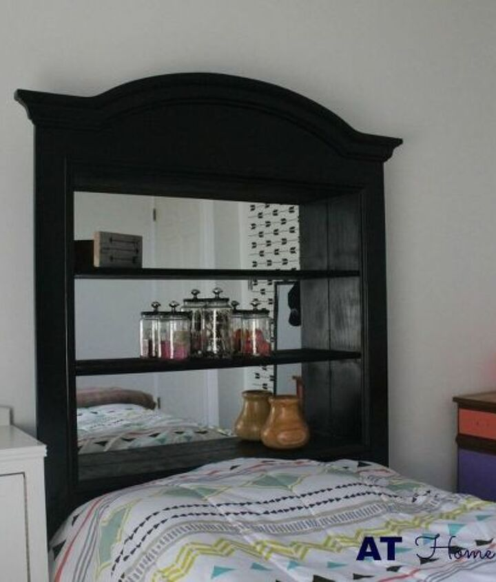 s 31 amazing furniture flips you have to see to believe, Vanity mirror turned headboard