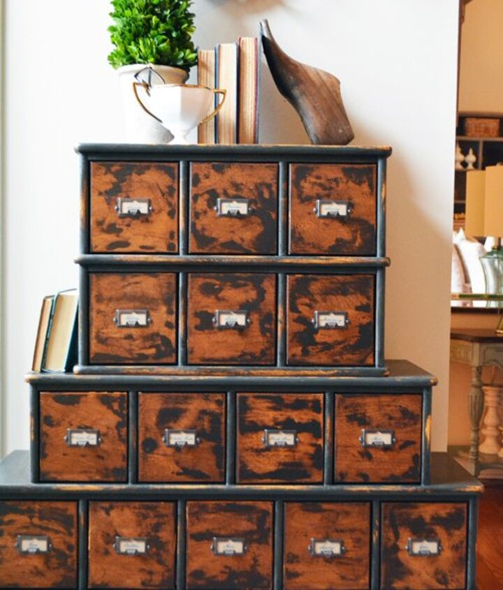 s 31 amazing furniture flips you have to see to believe, CD Cabinet Turned Vintage Apothecary Piece