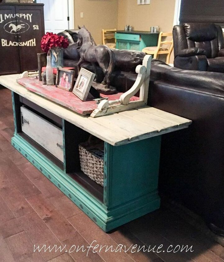 s 31 amazing furniture flips you have to see to believe, From an old hutch to a fresh sofa table