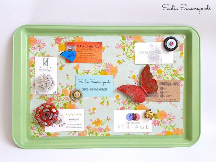 s 30 creative ways to repurpose baking pans, Turn it into a magnetic memo board