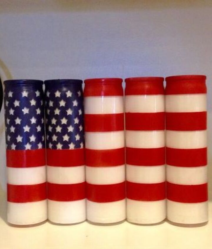 s 30 adorable diy ideas for july 4th, Make your flag wave with candles