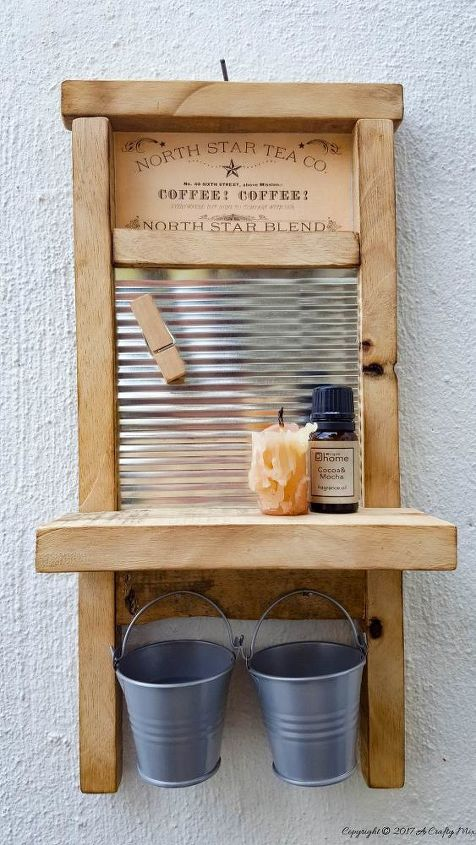 tin can recycled into an adorable washboard