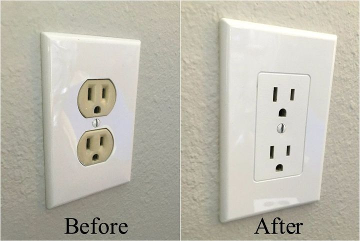 s 15 useful tips for covering up every eyesore in your home, Press On A New Plate For Hideous Outlets