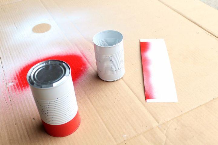 4th of july craft tin can luminaries