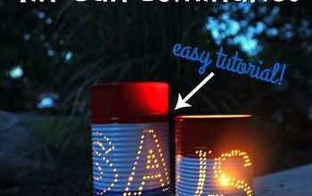 4th of july craft tin can luminaries