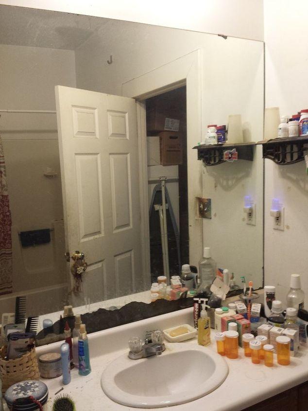 q where to go to get a bathroom mirror cut down