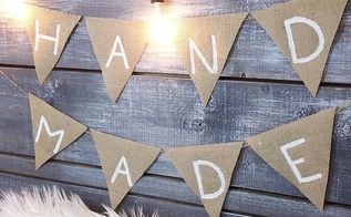 diy burlap banner easy affordable dollar store diy