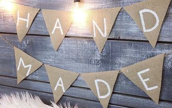 DIY Burlap Banner - Easy & Affordable | Dollar Store DIY