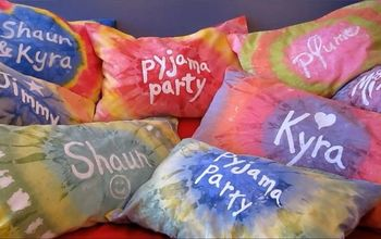 Personalized Tie-Dye Pillow Cases With Acrylic Paint