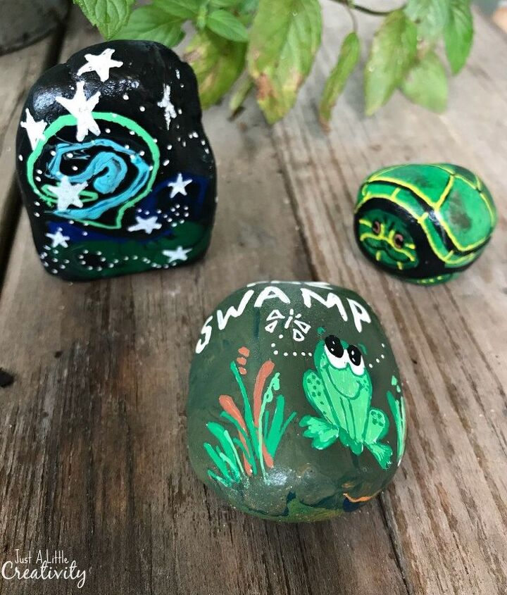 painted rocks a project to make people smile