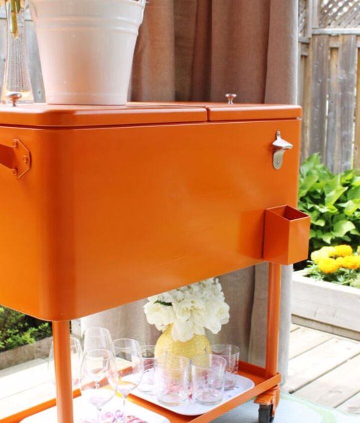 s 10 fun coolers your family can build to keep drinks cool, Spray Paint A Pop Of Color