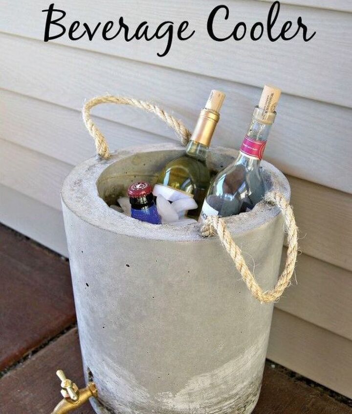 s 10 fun coolers your family can build to keep drinks cool, Get A Cooler Fashioned From Concrete