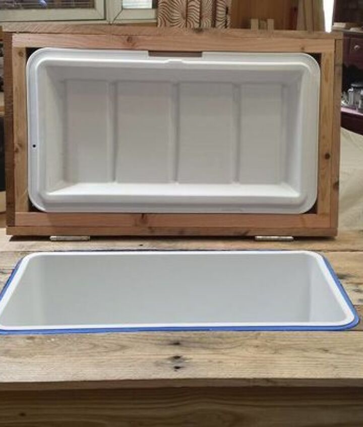 s 10 fun coolers your family can build to keep drinks cool, Pile On The Wood For A Simple Look