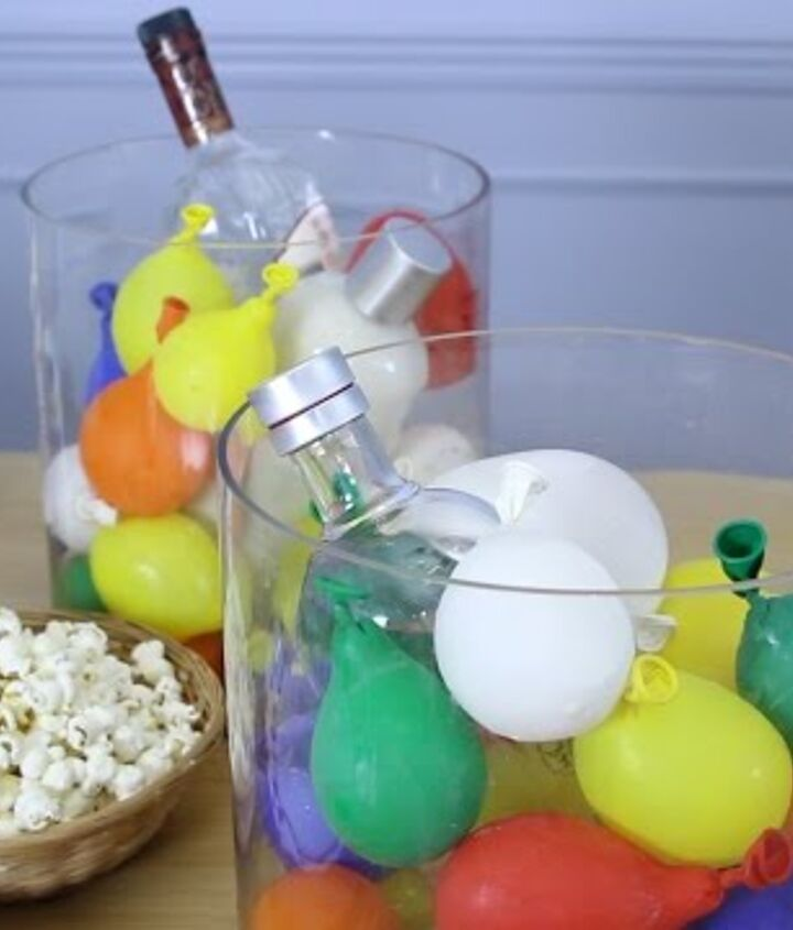 s 10 fun coolers your family can build to keep drinks cool, Freeze Balloons To Chill Drinks
