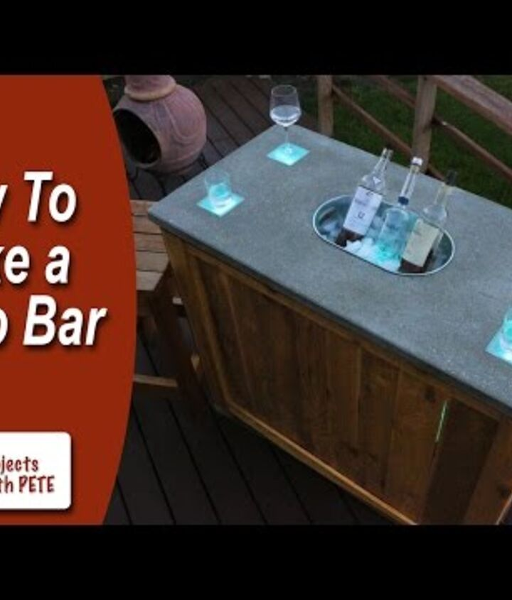 s 10 fun coolers your family can build to keep drinks cool, Sip On Drinks At A Patio Bar