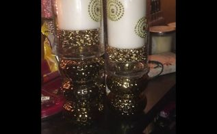 easy elegant candle holders with matching candles