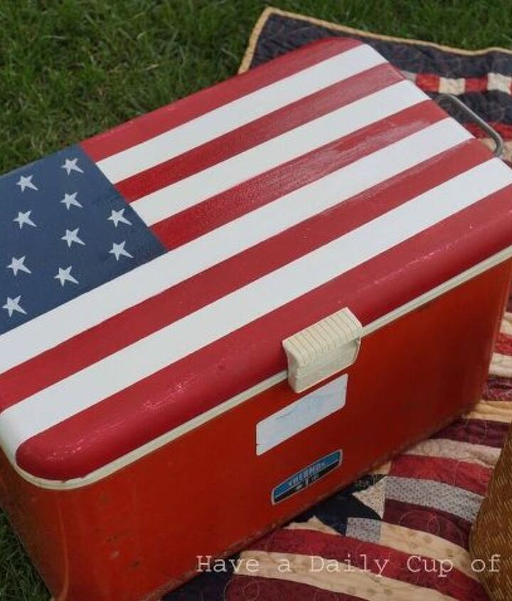 s 30 adorable diy ideas for july 4th, Chill your drinks with a patriotic cooler