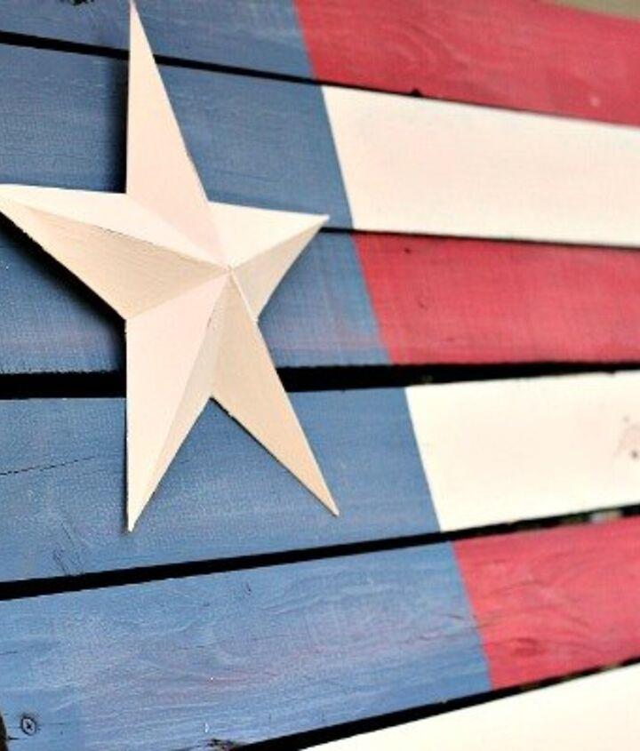s 30 adorable diy ideas for july 4th, Create a rustic feel with a pallet flag