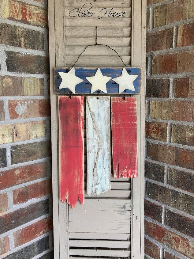 rustic pallet wood flag