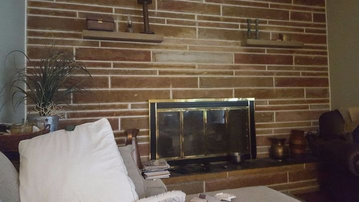 q how can i update the stone on fireplace without replacing it