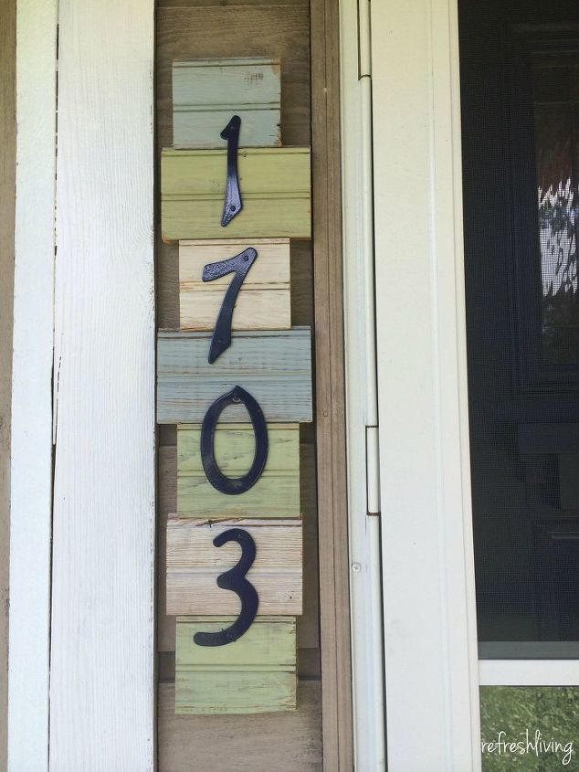 s 30 address signs that ll make your neighbors stop in admiration, Make a vertical house sign from scrap wood