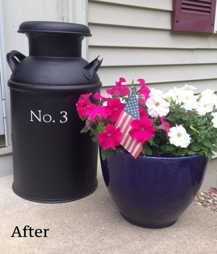 s 30 address signs that ll make your neighbors stop in admiration, Paint your number on an old milk can